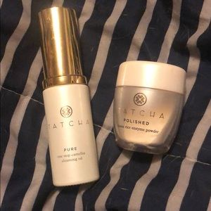 Tatcha Cleansing Oil and Enzyme Powder